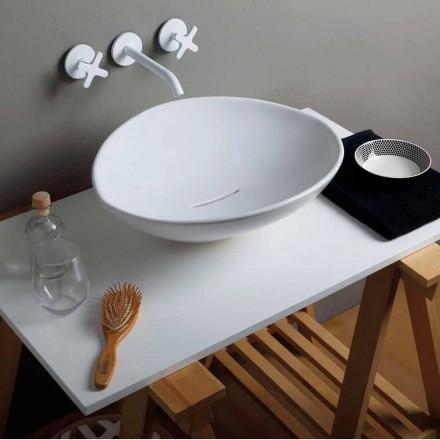 Umywalka ceramiczna made in Italy design, nablatowa Animals