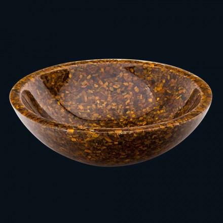 Umywalka nablatowa z wkładkami z tygrysiego kamienia model Oua