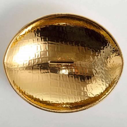 Umywalka nablatowa design z ceramiki gold made in Italy Animals
