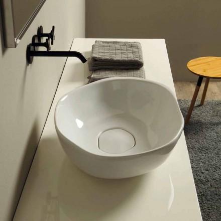 Umywalka ceramiczna nablatowa Stelo design, made in Italy