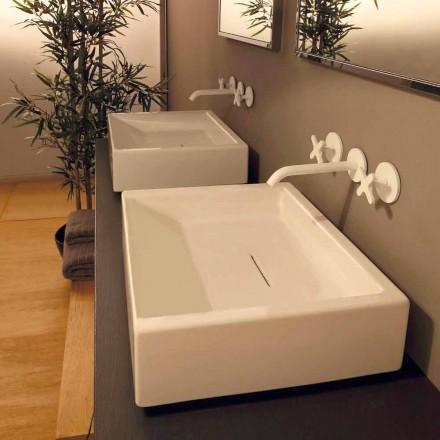 Umywalka nablatowa prostokątna z ceramiki design Dalia