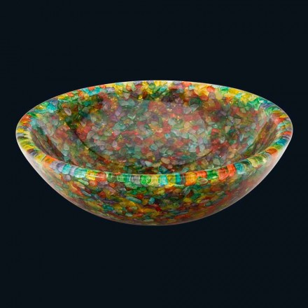 Umywalka nablatowa design z żywicy syntetycznej i kwarcu Nita
