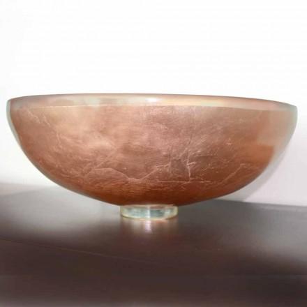 Zaprojektuj umywalkę nablatową z przezroczystej żywicy i miedzi - Salvatore