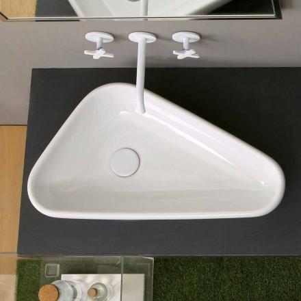 Umywalka ceramiczna nablatowa Sofia, nowoczesny design made in Italy