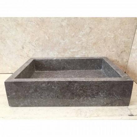 Umywalka nablatowa szara z kamienia naturalnego Jef, unikalna