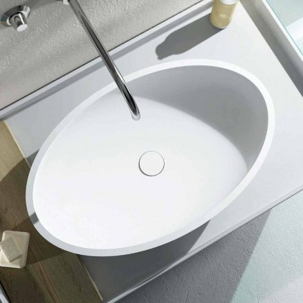 Umywalka nablatowa owalna Design wyprodukowana w 100% we Włoszech, Frascati