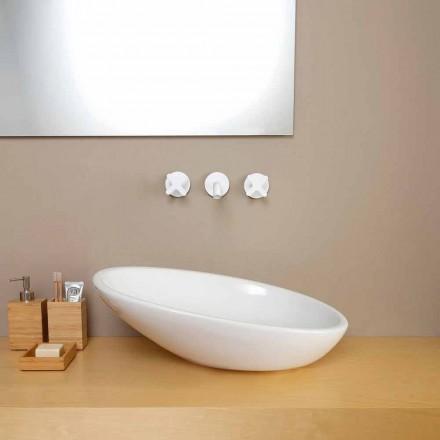 Umywalka ceramiczna nablatowa skośna made in Italy model Glossy
