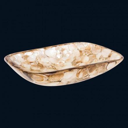 Umywalka nablatowa design z masy perłowej model Goldie