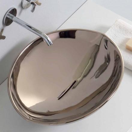 Umywalka nablatowa z ceramiki platyn made in Italy Animals