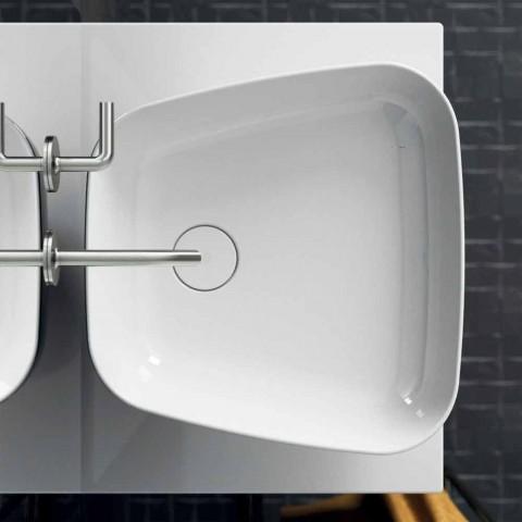 Nowoczesna ceramiczna umywalka nablatowa wykonana we Włoszech, Reale