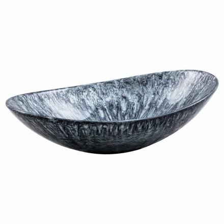 Nowoczesna umywalka nablatowa ze sztucznej żywicy - Bottida