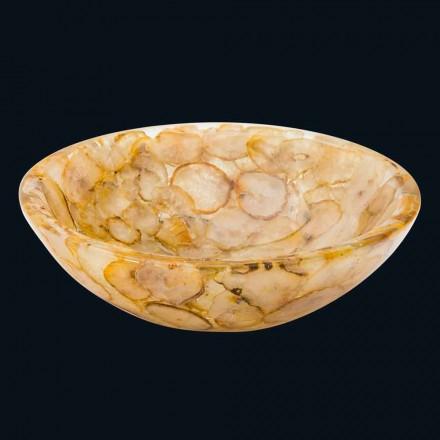 Umywalka nablatowa z sztucznej żywicy i kamienia agata Petra
