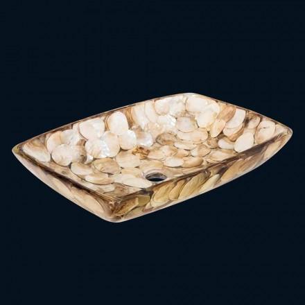 Umywalka nablatowa unikalna z żywicy Inez, nowoczesny design