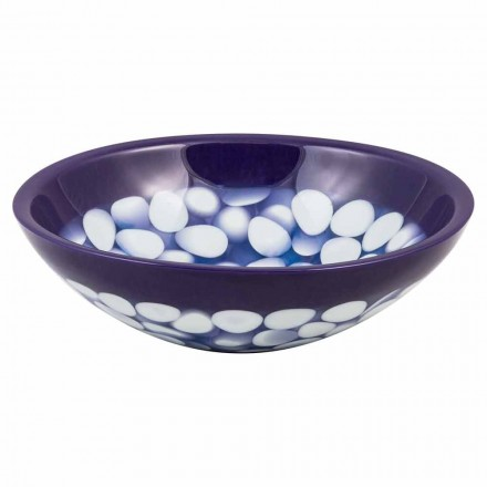 Umywalka ręcznie wykonana nablatowa w designerskiej żywicy, Buccheri
