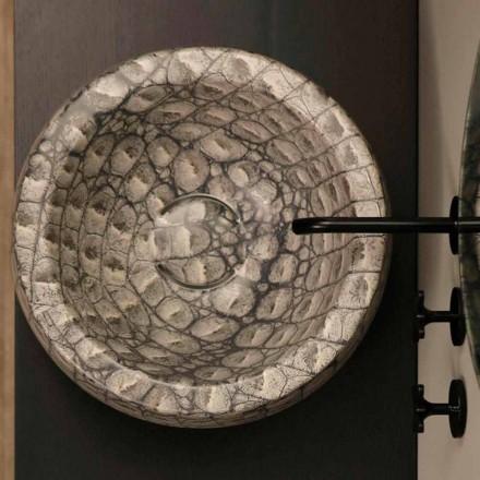 Umywalka ceramiczna caimano okrągła Elisa nablatowa made in Italy