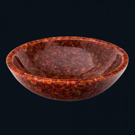 Okrągła umywalka nablatowa ze sztucznej żywicy i kamienia Nube