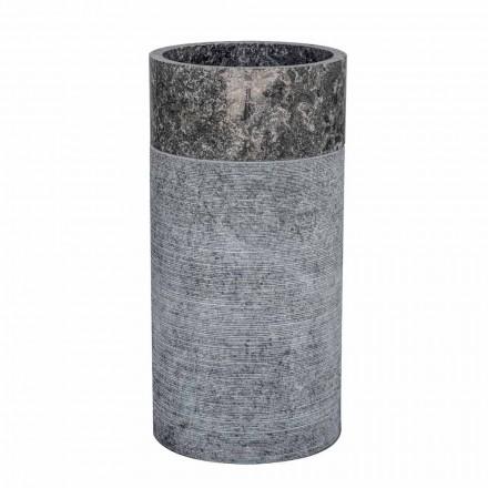 Wolnostojąca umywalka łazienkowa cylindryczna z szarego marmuru - Cremino