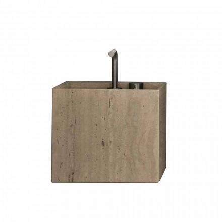 Nowoczesna kamienna umywalka nablatowa w kształcie kwadratu - Farartlav2