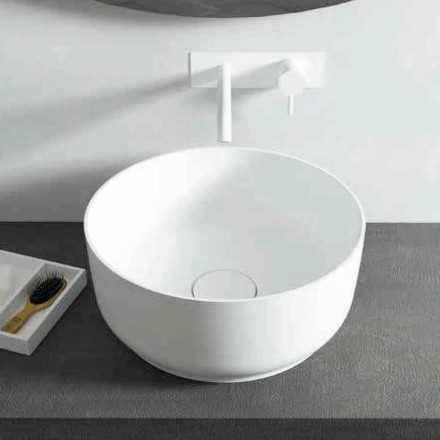 Nowoczesna umywalka nablatowa okrągła, wyprodukowana we Włoszech Dalmine