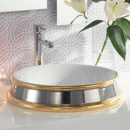 Umywalka w kształcie półpodłogowej łazienki z gliny ognistej wykonana we Włoszech, Manilo