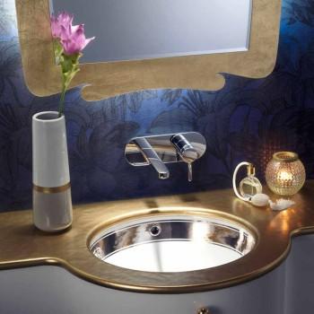 Barokowa umywalka z gliny ognistej ręcznie wykonana we Włoszech, Aegean