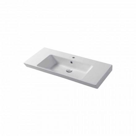 Umywalka nablatowa lub ścienna z białej lub kolorowej ceramiki Maida