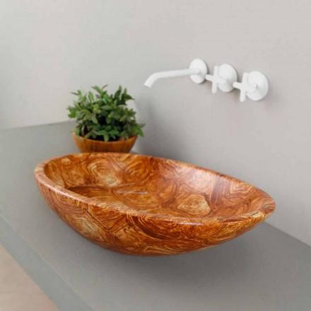 Umywalka nablatowa ceramiczna zółw made in Italy model Glossy