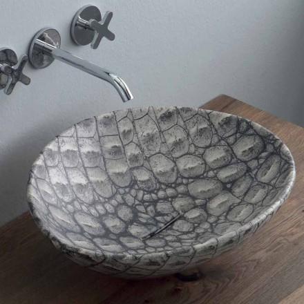Umywalka design nablatowa z ceramiki cocco made in Italy Animals