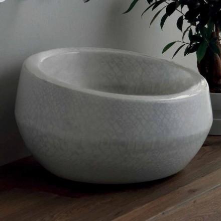 Umywalka design nablatowa Elisa, ceramika made in Italy