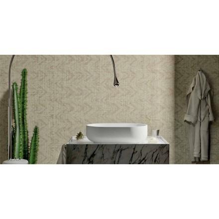 Nowoczesna umywalka nablatowa z litej powierzchni, Formicola