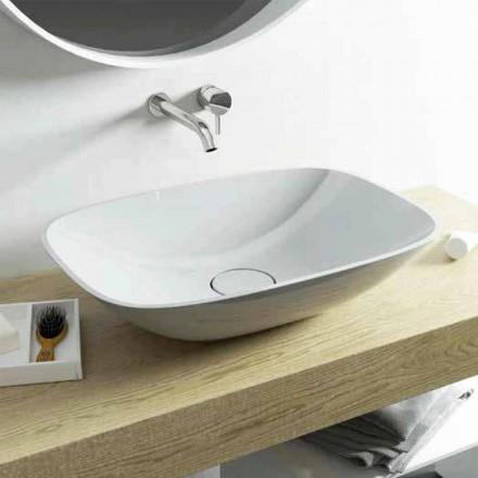 Współczesna umywalka nablatowa Taormina Medium wyprodukowana we Włoszech