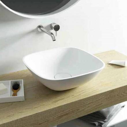 Umywalka nablatowa kwadratowa wykonana w 100% we Włoszech Taormina Mini