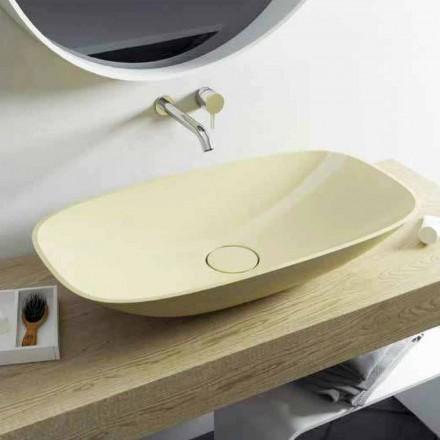 Nowoczesna umywalka nablatowa Taormina Big, wyprodukowana we Włoszech