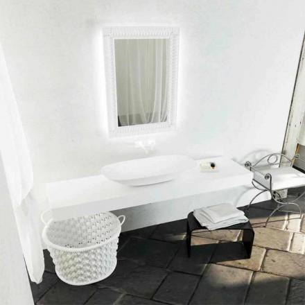 Nowoczesna umywalka nablatowa Taormina Maxi, wyprodukowana we Włoszech