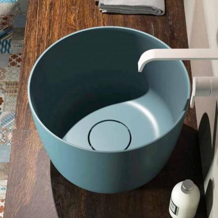 Okrągła umywalka okrągła wyprodukowana w 100% we Włoszech, Lallio