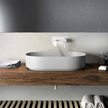 Nowoczesna umywalka nablatowa wykonana w 100% we Włoszech, Formicola