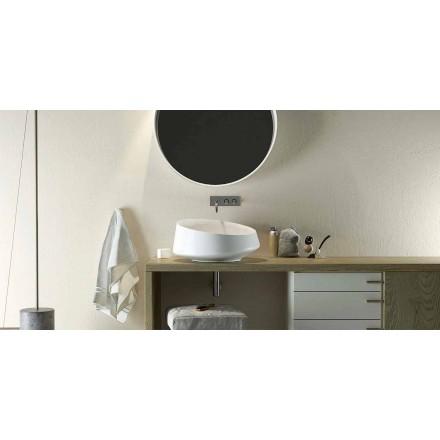Umywalka nablatowa Design Solid Surface wykonana we Włoszech, Dongo
