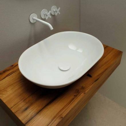 Umywalka nablatowa z ceramiki made in Italy, nowoczesny design