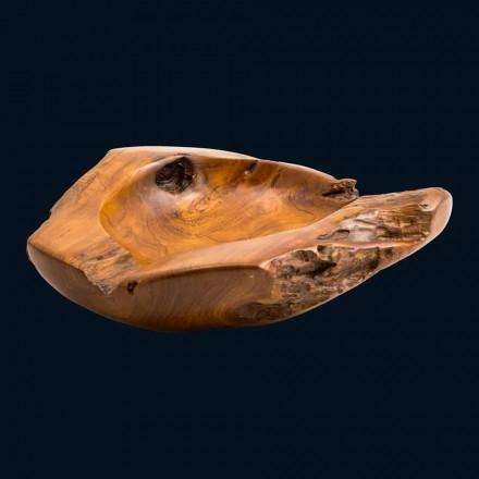 Umywalka nablatowa z drewna tekowego Nemo, unikatowa