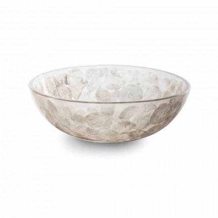 Umywalka nablatowa z żywicy z nowoczesnymi wstawkami z masy perłowej - Salvatore