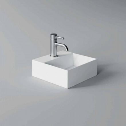 Umywalka ceramiczna kwadratowa lub prostokątna o nowoczesnym designie Made in Italy - Act