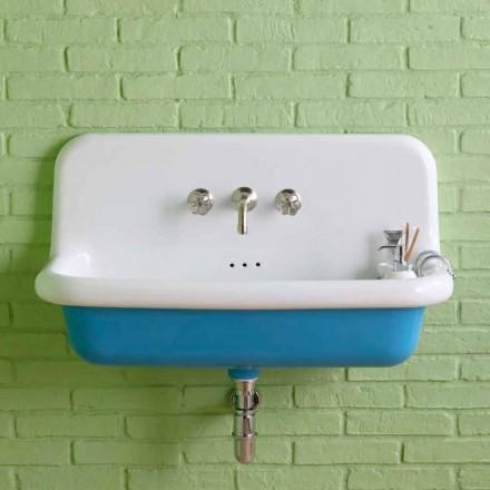 Umywalka prostokątna ceramiczna na ścianę model Henry