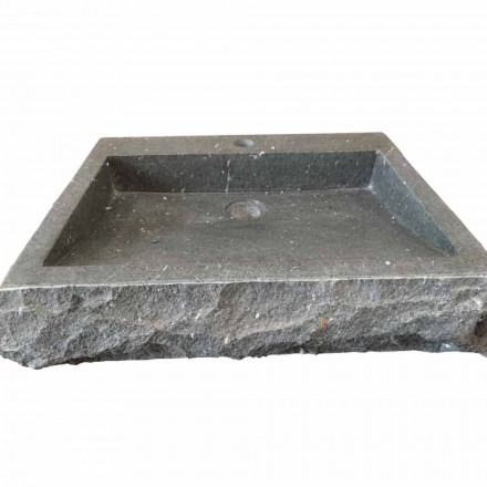 Nisa ręcznie myjąca prostokątna umywalka z kamienia andezyt