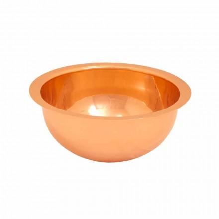 Umywalka okrągła z miedzi, wykonana ręcznie, Flora