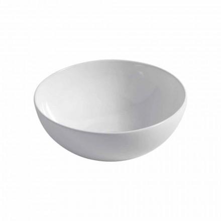 Umywalka ceramiczna stojąca na blacie Ø40cm Made in Italy Leivi