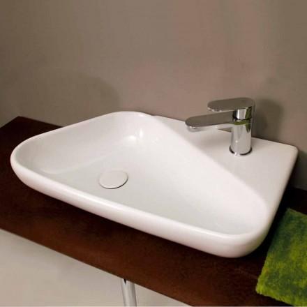 Umywalka okrągła nablatowa/wisząca design z ceramiki Sheyla