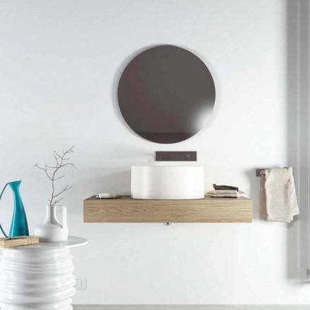 Designowa umywalka nablatowa okrągła wyprodukowana w 100% we Włoszech, Forino