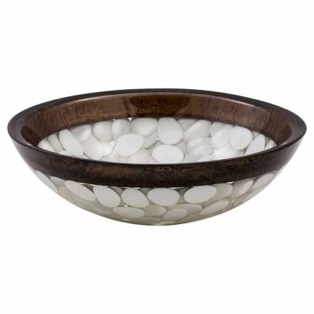 Okrągła umywalka do rąk wykonana z żywicy, Buguggiate