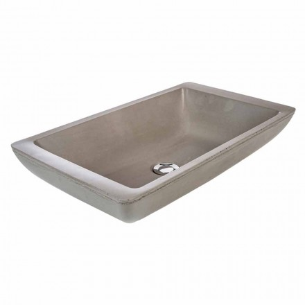 Umywalka nablatowa z ręcznie wykonaną cementową wanną