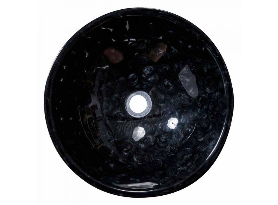 Blat ręcznie robiony zlewozmywak z czarnej żywicy, Bultei